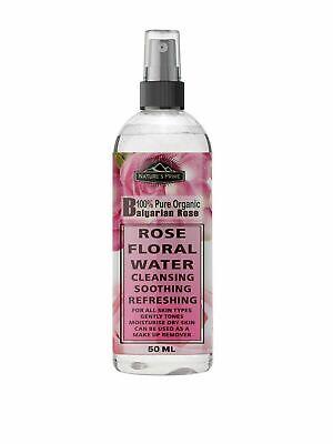 Rose Water 100% Pure Natural Bulgaria Origin Toner Cleanser, Moisturizer Spray