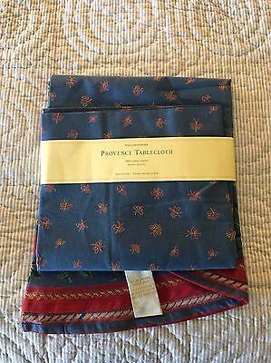 "NEW WILLIAMS-SONOMA Provence Tablecloth Blue Cotton 70"" Round"