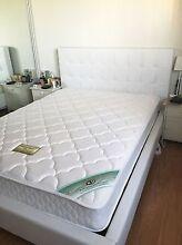 White Double bed frame and Mattress Hurstville Grove Kogarah Area Preview