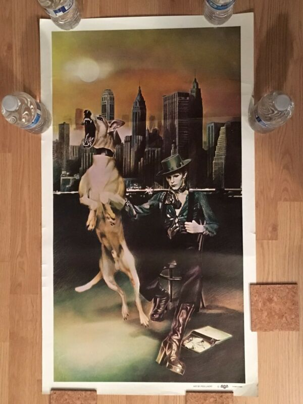 VINTAGE DAVID BOWIE UNRELEASED DIAMOND DOGS TOUR PROMO POSTER-ORIGINAL 1974