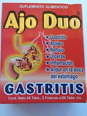 Ajo Duo Gastritis Acidez Reflujo Inflamacion free shipping !!!!!!!!!!!