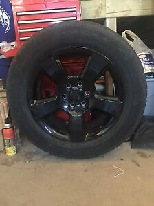 """Goodyear Eagle LS2 20"""" GMC rims and tires"""