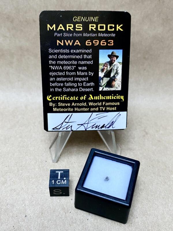 NWA 6963 Mars Rock 5-9mg Crumb Martian by Meteorite Men Steve