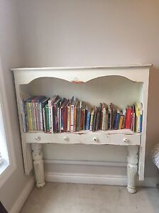 Distressed Bookshelf with drawer