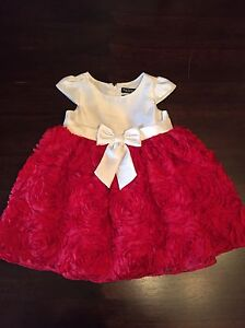 Newberry Red and White Dress - Size 18 Months