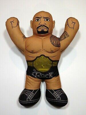 "WWE The Rock 2012 Brawlin Buddies Mattel 16"" Talking Stuffed Wrestler Nice!"