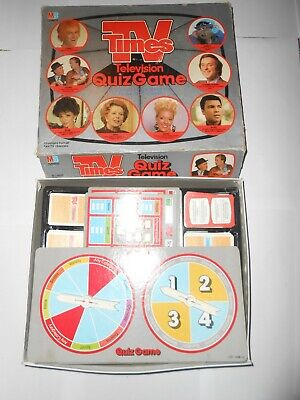 The TV Times Television Quiz Game - Vintage 1980s Quiz Game (Incomplete), used for sale  Shipping to Nigeria