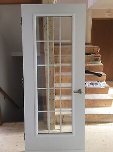 White door for sale with glass inlet
