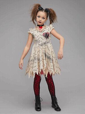 Girls Voodoo Doll Halloween Costume Sz 4 ( XS )