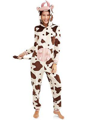 Halloween Pajamas For Women (Women's Cow Union Suit  Pajamas Halloween Costume Size XL NEW Secret)