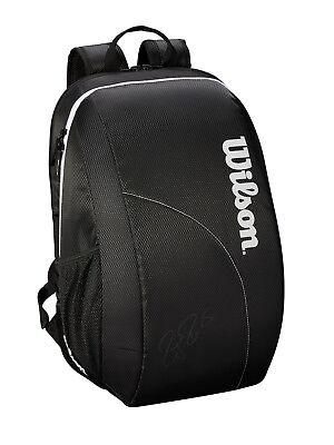 WILSON Roger Federer Backpack tennis racket racquet bag - Black/White