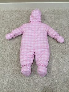 Like New Pink Plaid One Piece Snowsuit, Size 9 Months  Edmonton Edmonton Area image 2