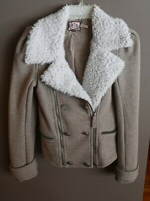 Juicy Couture Jacket Moto Sherpa Shearling Petite, excellent pre-owned condition for sale  Shipping to South Africa