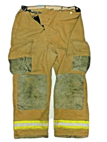 42x30 Globe Brown Firefighter Turn Out Pants with Yellow Tape No Liner PNL-16