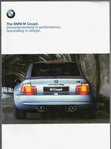 BMW Z3 M Coupe 1998-99 UK Market Sales Brochure
