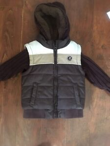 Boys toddler size 3 Sherpa sweater and vest