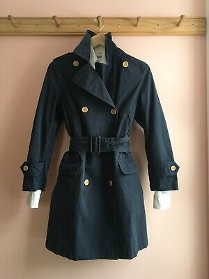 MHL by Margaret Howell navy cotton trench pea coat duster jacket la garconne 1 S