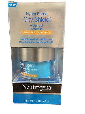 Neutrogena Hydro Boost City Shield Water 1.7 oz Gel SPF 25 Exp 11/2021