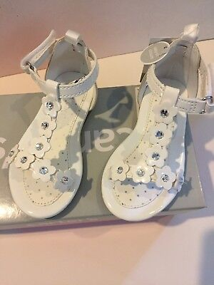 Carter's Toddler Sandals White 6 Holiday Flower Girl Vacation New Shoes boxed - Flower Girl Sandals