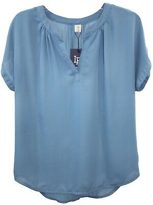 Lilbetter Ladies Womens Blue Short Sleeve Light Weight Top B