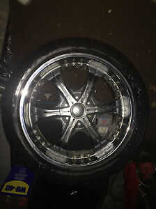 20 inch low profile tire set barely used