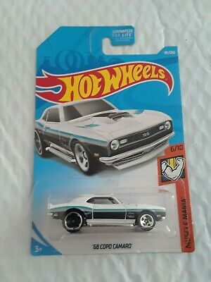 2019 HOT WHEELS #181/250 '68 CHEVY COPO CAMARO SS #5/10 HW MUSCLE MANIA WHITE