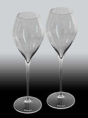 2 Ruinart Champagner Gläser / bauchig