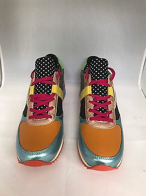 Dolce & Gabbana Woman's Leather Fashion Sneakers Mix Colors Size 37,5