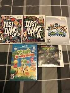 3 Wii games, 1 Wii U game and 1 3DS game