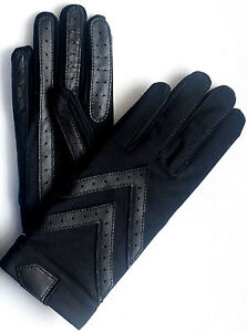 Isotoner-Womens-Classic-Unlined-Stretch-Driving-Gloves-Black-OneSize-Retail-34