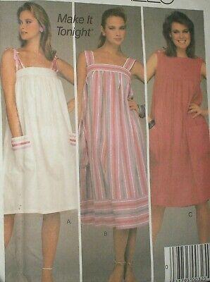 80s Dresses | Casual to Party Dresses Vintage 1980s McCall's 9000 Pullover Sundress Dress Pattern size L 18-20 $10.48 AT vintagedancer.com