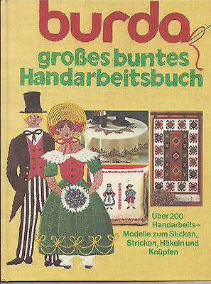K 601 Burda Moden Handarbeitsbuch Kunststricken 80er J. komplett Stricken Häkeln