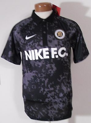 NWT Nike FC Football Club Sem Risco Nao Ha Victoria Mens Soccer Jersey S Black image