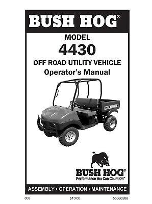 Bush Hog Bush Hog Side By Side 4430 Operators Maintenance Manual