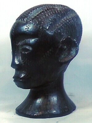 An EARLY African Makonde Hand Carved Ebony Bust .4 inches or 10 cm