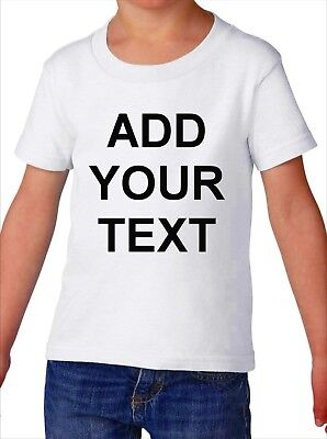 Toddler Custom Text Shirt Funny T-Shirt Boys & Girls Tee Customized Personalized