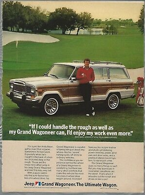 1984 JEEP GRAND WAGONEER advertisement, AMC with golfer Andy Bean, used for sale  Hubbards