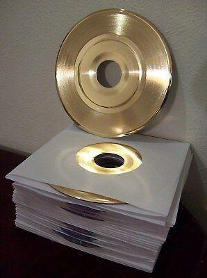 Blank Gold Plated 45 Record RIAA Quality Custom Customize Award Trophy Vinyl 7