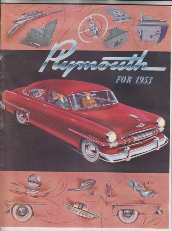 1953 SALES BROCHURE - PLYMOUTH FOR 1953