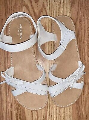 New Girls Arizona Sandals Ivory Cream Youth Size 4 Easter First Communion
