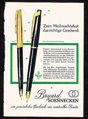 3w1650/ Alte Reklame von 1960 - Füllhalter von BAYARD / SOENNEKEN.