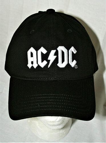 Retro 2019 AC/DC Rock Group Black Baseball Cap Hat New Tags NOS OSFM Music