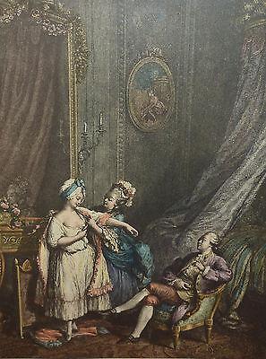 """Barockzeit """"Le petit Jour"""" französischer Stich Weiblicher Akt Barock"""