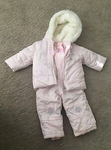 12 months girl snow suit