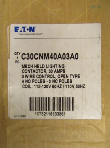 EATON CUTLER HAMMER C30CNM40A03A0 Mechanically Held Lighting Contactor