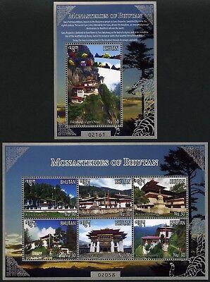 Bhutan 2015 Klöster Religion Buddhismus Fahne 2860-2865 Block 539 Postfrisch MNH
