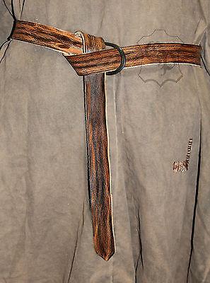 hochwertiger Mittelalter Gürtel Langgürtel Echt Leder mit Eisen-Schnalle