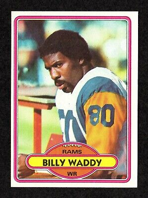 1980 Topps #342 Billy Waddy Los Angeles Rams Football Card EX/MT