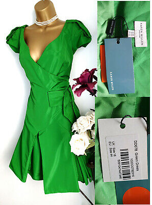 Incredibly Individual KAREN MILLEN DD078 Apple Green Occasion Races Dress 14 16