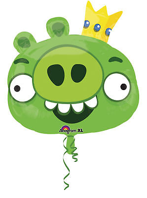 Angry Birds Party Supplies Bulk Green King Pig 23